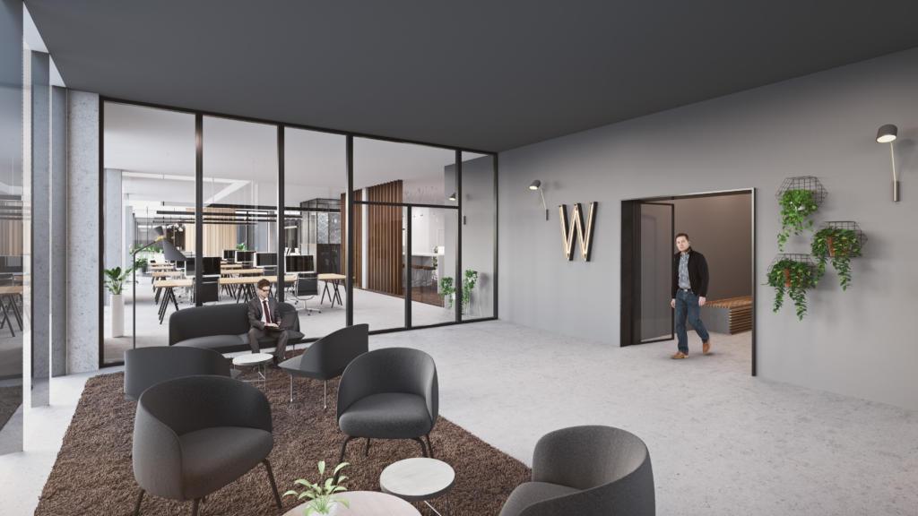 Lobby van kantoorruimte in Kontich