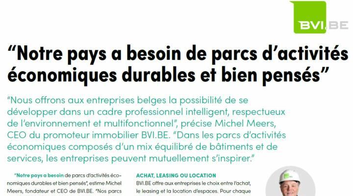 AUJOURD'HUI DANS L'ECHO – INTERVIEW EXCLUSIVE DE MICHEL MEERS
